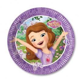 8 Assiettes Sofia la Petite Princesse 20 cm