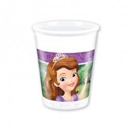 8 Gobelets Sofia la Petite Princesse 200 ml