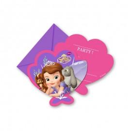 6 Invitations Sofia la Princesse