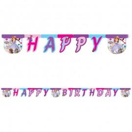Banderoles Happy Birthday Princesse Sofia