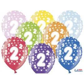 Ballons Chiffre 2 Ronds 32 cm