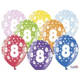 Ballons Chiffre 8 Ronds 32 cm