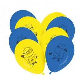 8 Ballons de Minions 28 cm