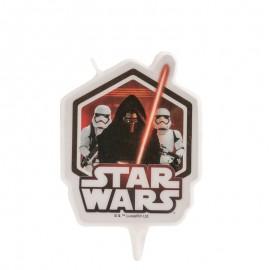 Bougie d'Anniversaire Star Wars 7,5 Cm
