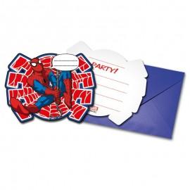 6 Invitations Spiderman