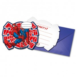 6 Invitations Spiderman