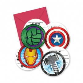 6 Invitations les Avengers