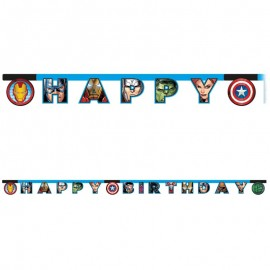 Guirlande Happy Birthday Les Avengers
