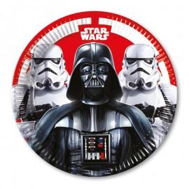 8 Assiettes Star Wars 23 cm