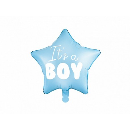 """Ballon en Forme d'Étoile """"It's a Boy"""" 45cm"""
