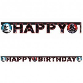 Guirlande Happy Birthday Star Wars