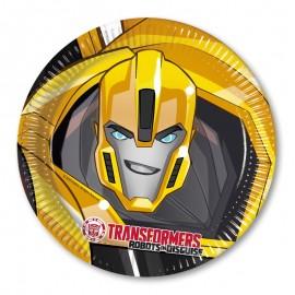 8 Assiettes Transformers 23cm