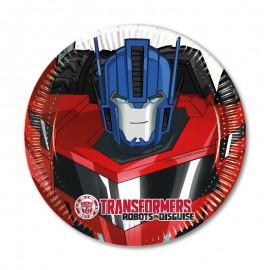 8 Assiettes Transformers 20cm