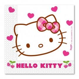 Serviettes Hello Kitty 33cm