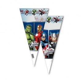 10 Sacs Avengers Pour Friandises en Forme de Cône
