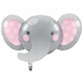 Ballon en Aluminium d'Éléphant Rose