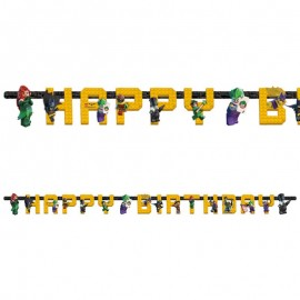 Guirlande Happy Birthday Lego Batman 180 x 15 cm