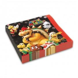 20 Serviettes Super Mario 33 cm
