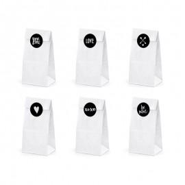 6 Sacs en Papier Kraft Pour Mariages