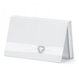 Enveloppe pour Mariage Blanche avec Perle