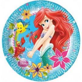 8 Assiettes de La Petite Sirène Ariel