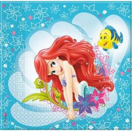 20 Serviettes de La Petite Sirène Ariel