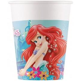 8 Gobelets de La Petite Sirène Ariel 200 ml