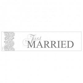 Plaque d'Immatriculation Just Married Argentée