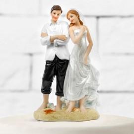 Figurines de Mariés à la Plage