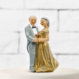 Figurines de Mariés Pour Noces d'Argent