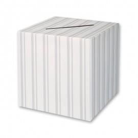 Boîte pour enveloppe rayée