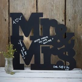 Lettres pour Mariages en Ardoise Mr & Mrs