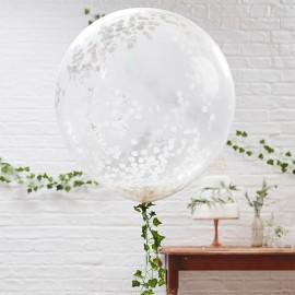 Ballon de Confettis Géant Blanc 90 cm