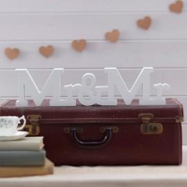 Lettres pour Mariages en Bois Mr & Mrs