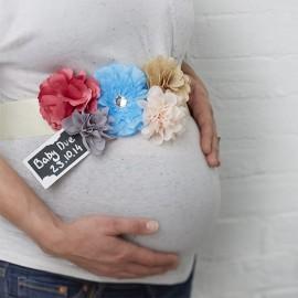 Ceinture de Fleurs Baby Shower