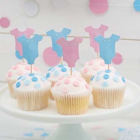 12 Toppers pour Cupcake Baby Shower
