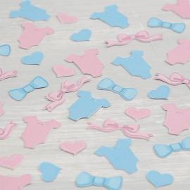 Confettis Garçon et Fille pour Baby Shower