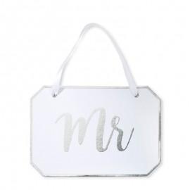 Pancarte Mr pour Mariage Elégant
