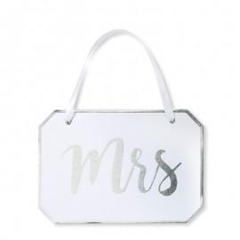 Pancarte Mrs pour Mariage Elégant