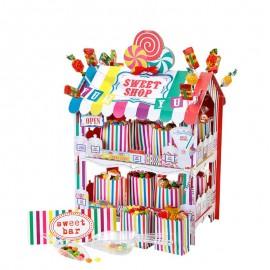 Support pour Bonbons en Forme de Maison