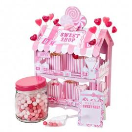 Support pour Bonbons Maison Rose