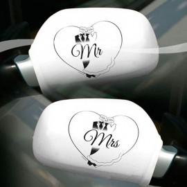 2 Housses Décoratives pour Voiture de Mariage