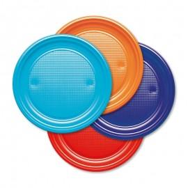 10 Assiettes en Plastique 20,5 cm