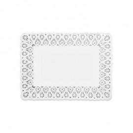 10 Napperons Rectangulaires en Papier 18 x 25 cm
