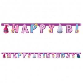 Guirlande Happy Birthday Trolls