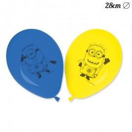 8 Ballons Minions 28 cm