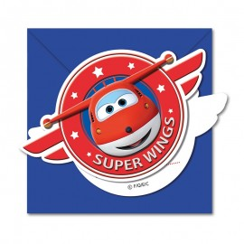 6 Invitations Super Wings