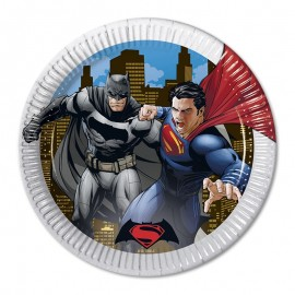 8 Assiettes SuperMan 23 cm