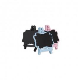 4 Ardoises avec Chevalet 7 x 8 cm