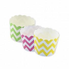 12 Caissettes à Cupcake Chevron